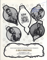 HOLYFIELD, EVANDER-ANTHONY DAVIS SIGNED OFFICIAL PROGRAM (1985-SIGNED BY HOLYFIELD & TAYLOR)
