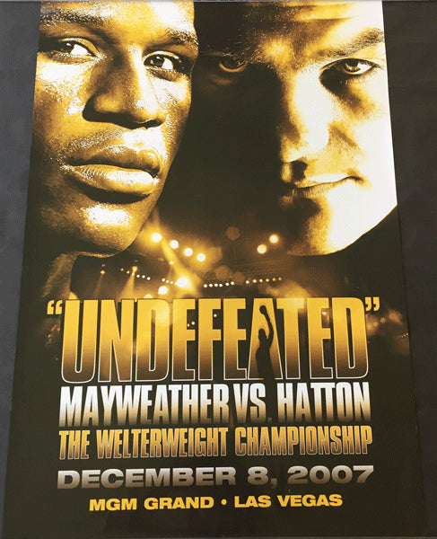 MAYWEATHER, JR., FLOYD-RICKY HATTON ON SITE POSTER (2007)