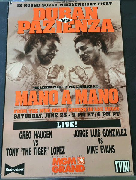 DURAN, ROBERTO-VINNY PAZIENZA I ON SITE POSTER (1994)