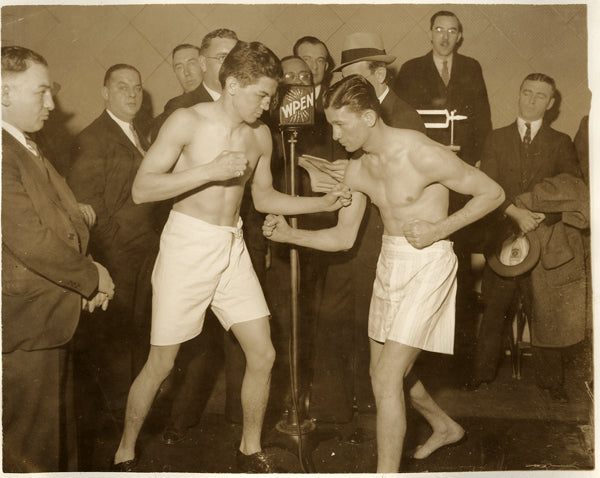 JADICK, JOHNNY-HARRY DUBLINSKY WIRE PHOTO (1932-SQUARING OFF)