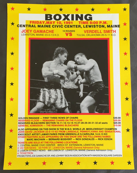 GAMACHE, JOEY-VERDELL SMITH ON SITE POSTER (1991)