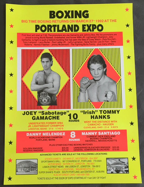 "GAMACHE, JOEY-""IRISH"" TOMMY HANKS ON SITE POSTER (1992)"