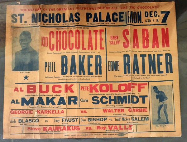 CHOCOLATE, KID-PHIL BAKER ON SITE POSTER (1936)