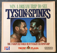 TYSON, MIKE-MICHAEL SPINKS ADVERTISING POSTER (1987)