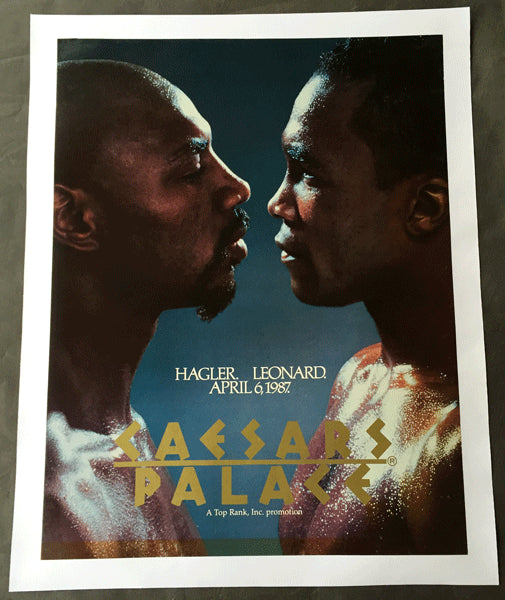 LEONARD, SUGAR RAY-MARVIN HAGLER ON SITE POSTER (1987)