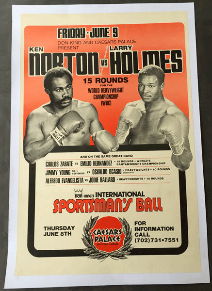 HOLMES, LARRY-KEN NORTON ON SITE POSTER (1978)