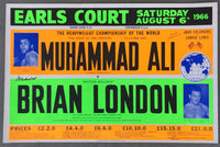 ALI, MUHAMMAD-BRIAN LONDON ON SITE POSTER (1966-SIGNED BY ALI-JSA)