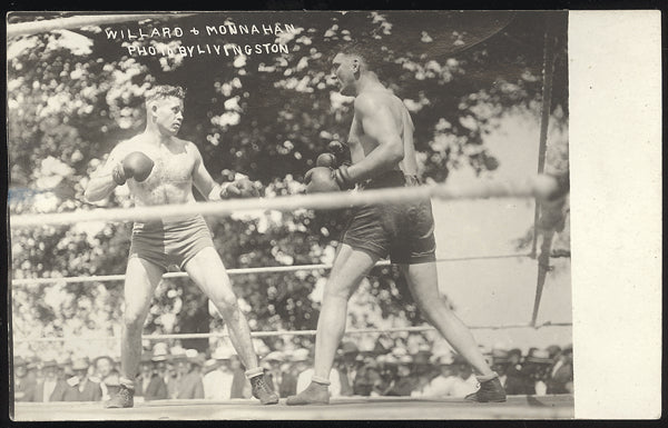WILLARD, JESS TRAINING REAL PHOTO POSTCARD 91915-TRAINING FOR JOHNSON)