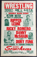 FUNK, DORY-DANNY MCSHAIN ON SITE WRESTLING POSTER (1961)