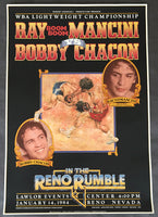 "MANCINI, RAY ""BOOM BOOM""-BOBBY CHACON ON SITE POSTER (1984)"