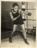 VILLA, PANCHO WIRE PHOTO (1922-TRAINING FOR GENARO)