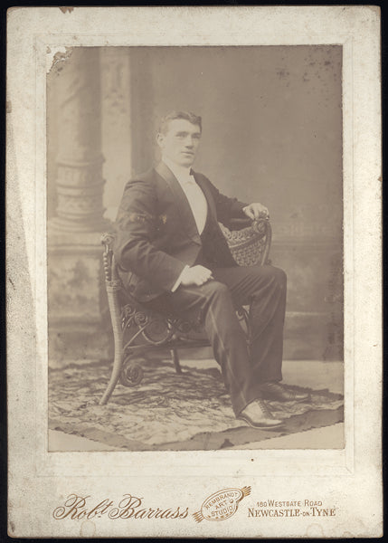 O'BRIEN, PHILADELPHIA JACK MOUNTED ANTIQUE PHOTO