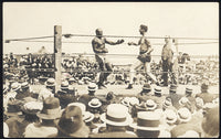 JOHNSON, JACK-JESS WILLARD REAL PHOTO POSTCARD (1915)