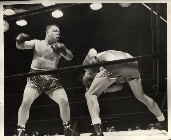 BAER, MAX-TONY GALENTO WIRE PHOTO (1940-1ST ROUND)