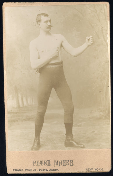MAHER, PETER CABINET CARD