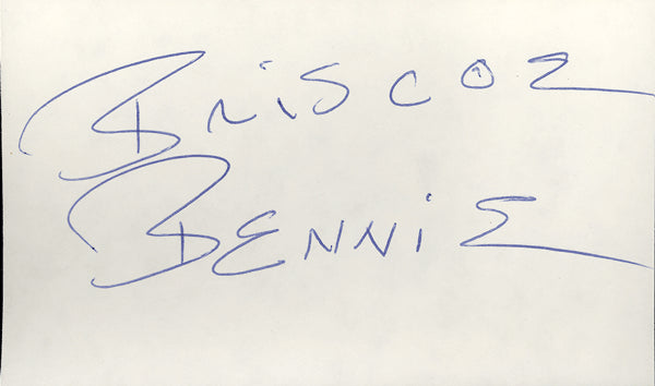 BRISCOE, BENNIE INK SIGNED INDEX CARD