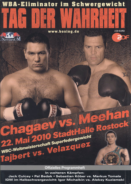 CHAGAEV, RUSLAN-KALI MEEHAN OFFICIAL PROGRAM (2010)