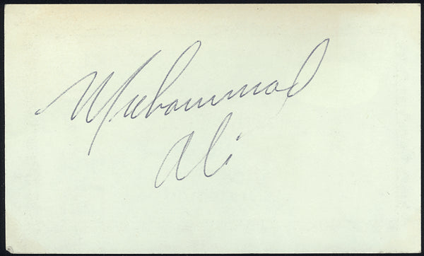ALI, MUHAMMAD EARLY INK SIGNATURE (1964-AS CHAMPION-JSA)