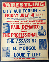 DEMARCO, PAUL-THE PROFESSIONAL WRESTLING ON SITE POSTER (1969)