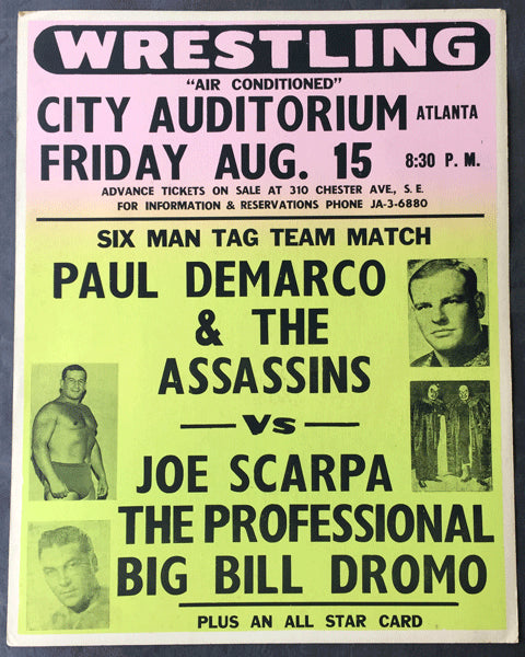 THE ASSASSINS & DEMARCO VS. SCARPA, THE PROFESSIONAL & DROMO ON SITE POSTER (1969)