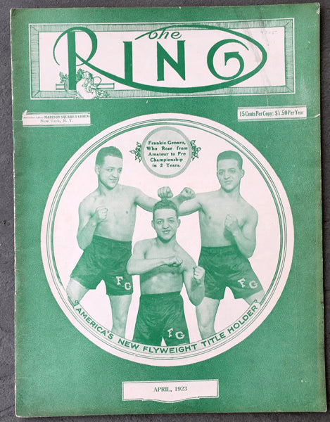 RING MAGAZINE APRIL 1923 (2ND YEAR)