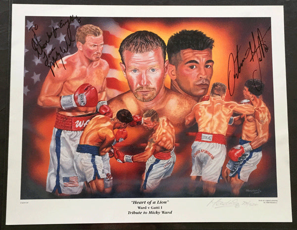 GATTI, ARTURO-MICKEY WARD I SIGNED PRINT (2002-HEART OF A LION-FROM COLLECTION OF AL GAVIN)