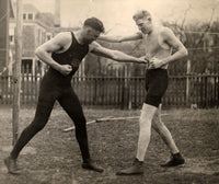 DEMPSEY, JACK WIRE PHOTO (1919-SPARRING WITH MARTY BURKE FOR WILLARD FIGHT)