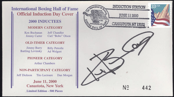 BUCHANAN, KEN SIGNED BOXING HALL OF FAME FIRST DAY COVER