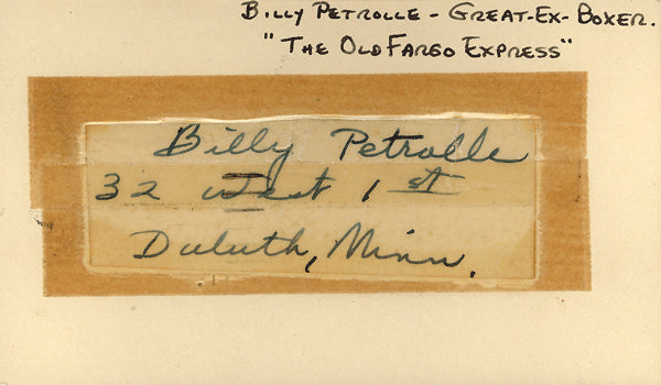 PETROLLE, BILLY INK SIGNATURE