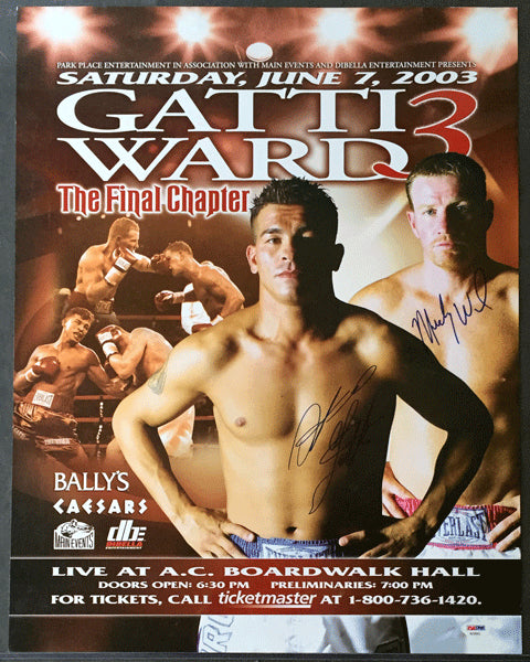 GATTI, ARTURO-MICKY WARD III SIGNED ON SITE POSTER (SIGNED BY BOTH-PSA/DNA)