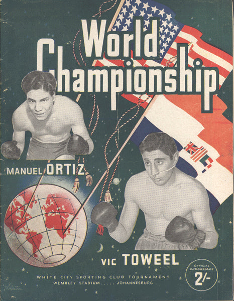 ORTIZ, MANUEL-VIC TOWEEL OFFICIAL PROGRAM (1950)