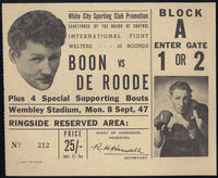 BOON, ERIC-GIEL DE ROODE STUBLESS TICKET (1947)