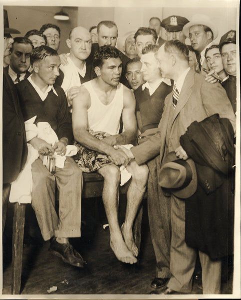 SCHMELING, MAX WIRE PHOTO (1930-POST FIGHT)