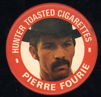FOURIE, PIERRE ADVERTISING PIN (1973-FOSTER FIGHT)