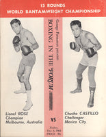 ROSE, LIONEL-CHUCHO CASTILLO OFFICIAL PROGRAM (1968)