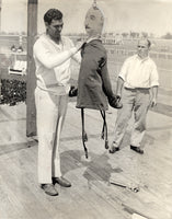 DEMPSEY, JACK ORIGINAL WIRE PHOTO (1927-TRAINING FOR TUNNEY)