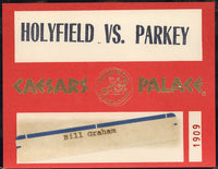 HOLYFIELD, EVANDER-RICKEY PARKEY CREDENTIAL (1987)