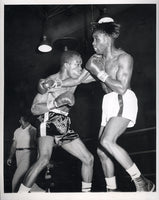BROWN, JOE-WALLACE BUD SMITH WIRE PHOTO (1957-1ST ROUND)