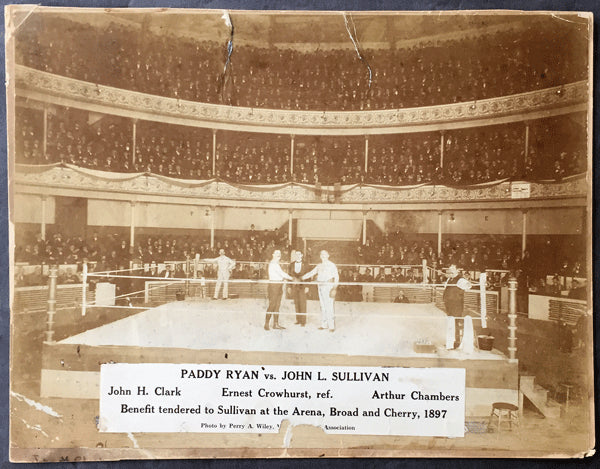 SULLIVAN, JOHN L.-PADDY RYAN LARGE FORMAT PHOTO (1897)