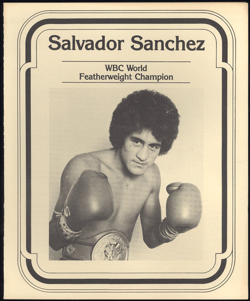 SANCHEZ, SALVADOR SOUVENIR PROMOTIONAL PROGRAM (1981)