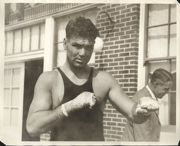 DEMPSEY, JACK ORIGINAL ANTIQUE PHOTO (1927-TRAINING FOR TUNNEY)