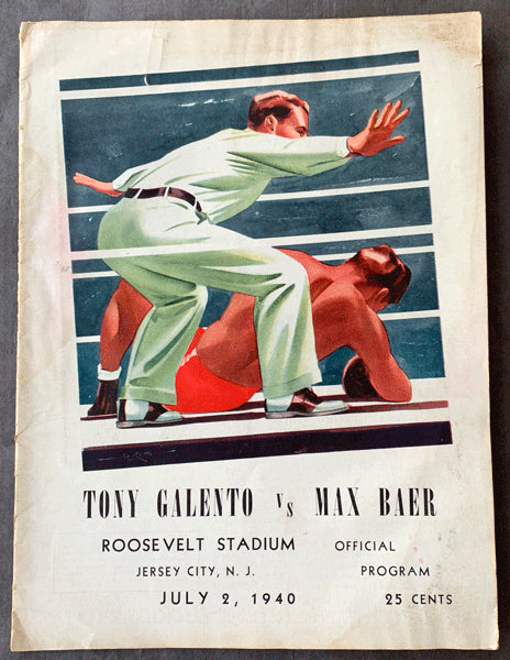 BAER, MAX-TONY GALENTO OFFICIAL PROGRAM (1940)