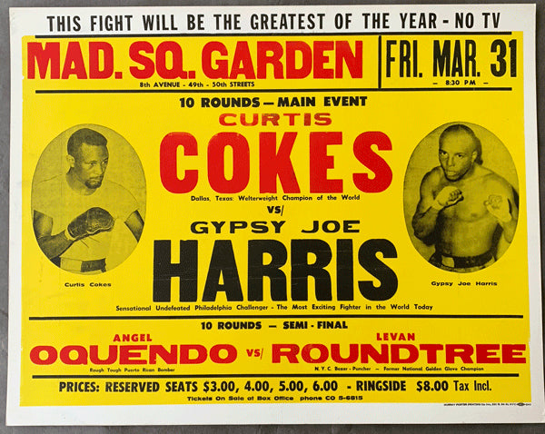 COKES, CURTIS-GYPSY JOE HARRIS ON SITE POSTER (197
