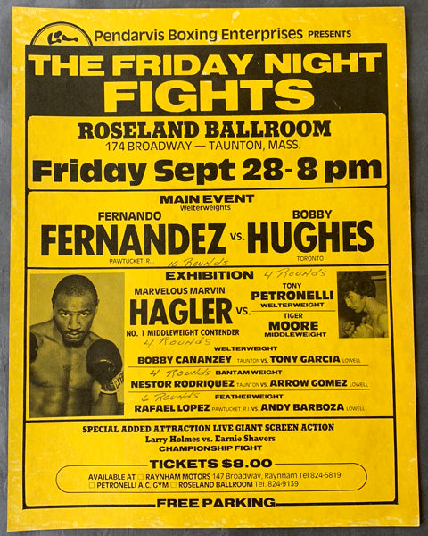HAGLER, MARVIN EXHINITION POSTER (1979)