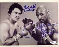 HAGLER, MARVIN & ROBERTO DURAN SIGNED PHOTO (JSA AUTHENTICATED)