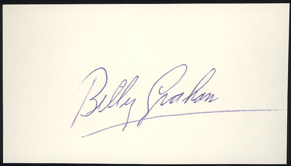 GRAHAM, BILLY INK SIGNATURE