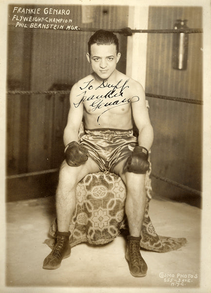 GENARO, FRANKIE VINTAGE SIGNED PHOTO (AS WORLD FLYWEIGHT CHAMPION)