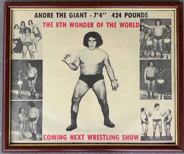 ANDRE THE GIANT 8TH WONDER OF THE WORLD ORIGINAL POSTER (1980'S)