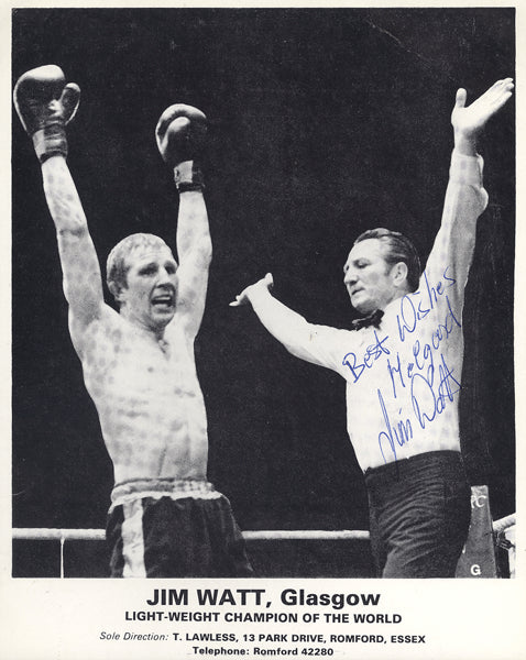 WATT, JIM SIGNED PHOTO