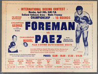 FOREMAN, GEORGE-MIGUEL PAEZ ON SITE POSTER (1972)